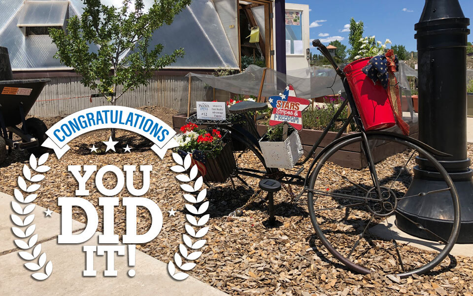Congratulations! You did it. You completed the bike planter scavenger hunt.