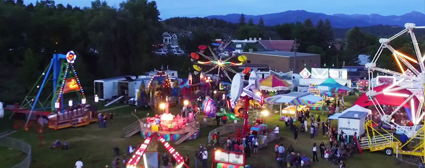 4th of July Carnival in downtown Pagosa Springs, Colorado