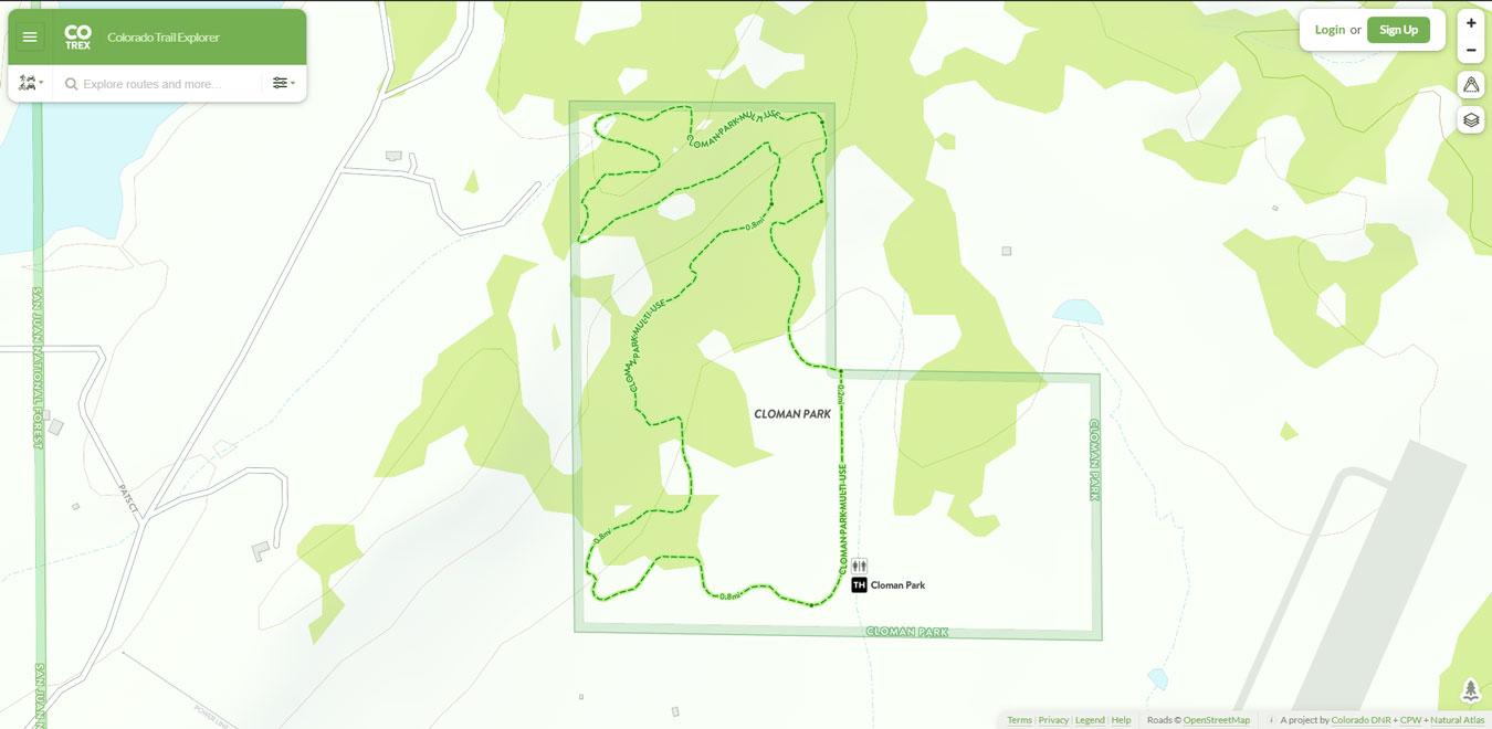 Cloman Park Trails Map