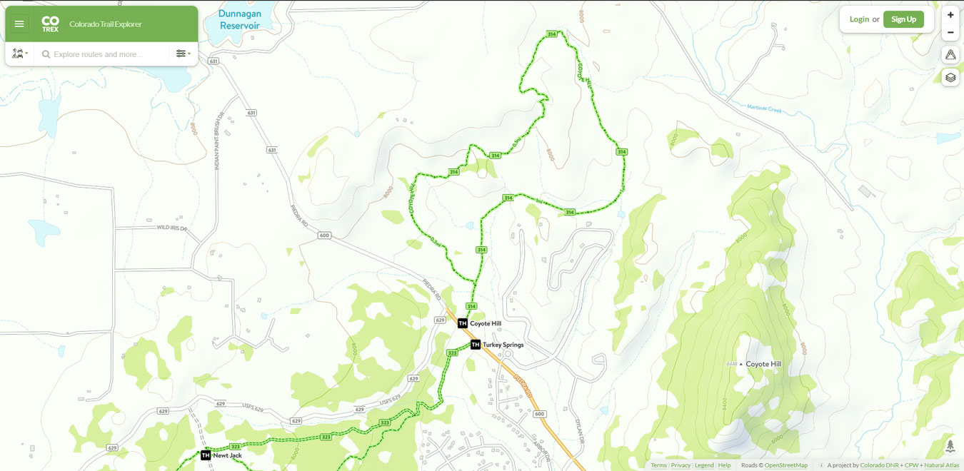 Coyote Hill Loop Trail Map