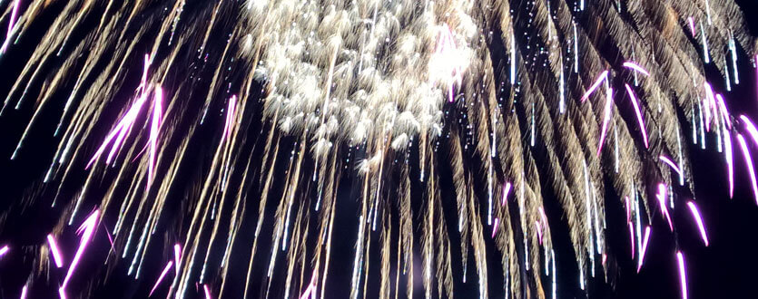 Fireworks on July 4th in Pagosa Springs, Colorado