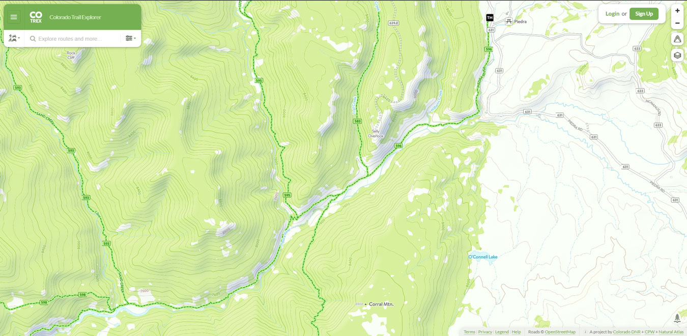 Piedra River Trail Map