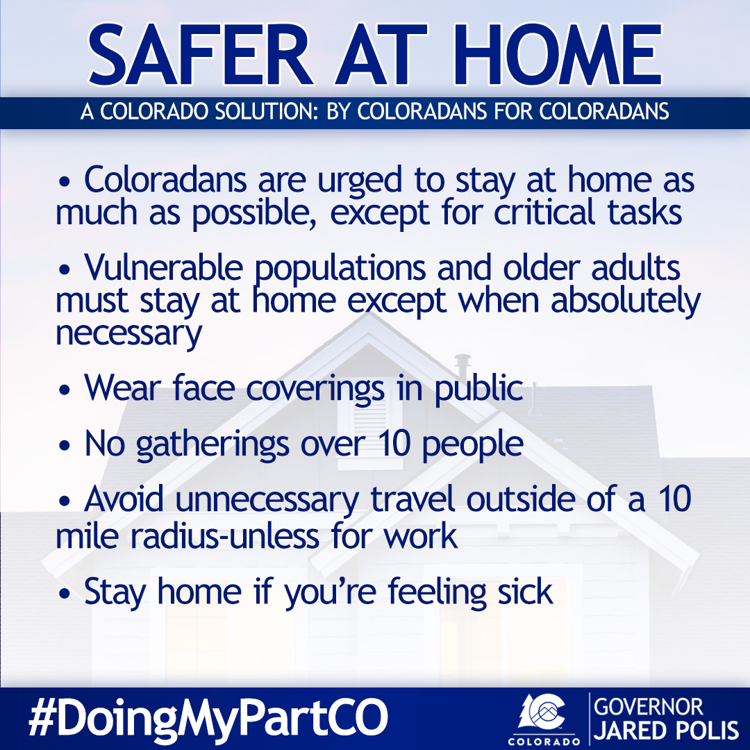 Colorado COVID-19 Safer At Home Guidelines