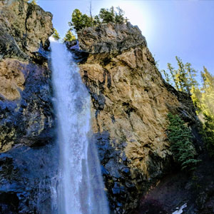A photo of Treasure Falls east of Pagosa Springs