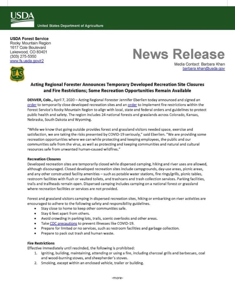 USFS Notices