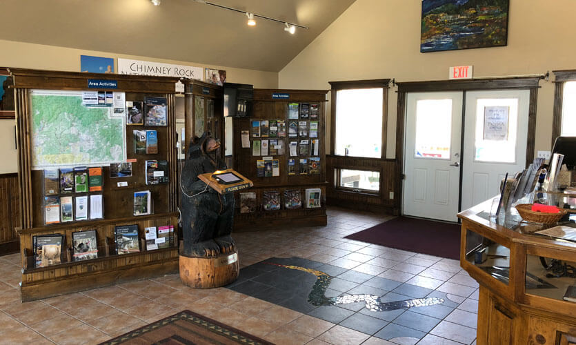 Inside the Pagosa Springs Visitor Center