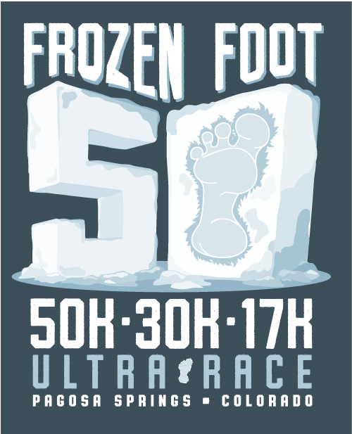 Frozen Foot 50k Ultra Race Logo Image