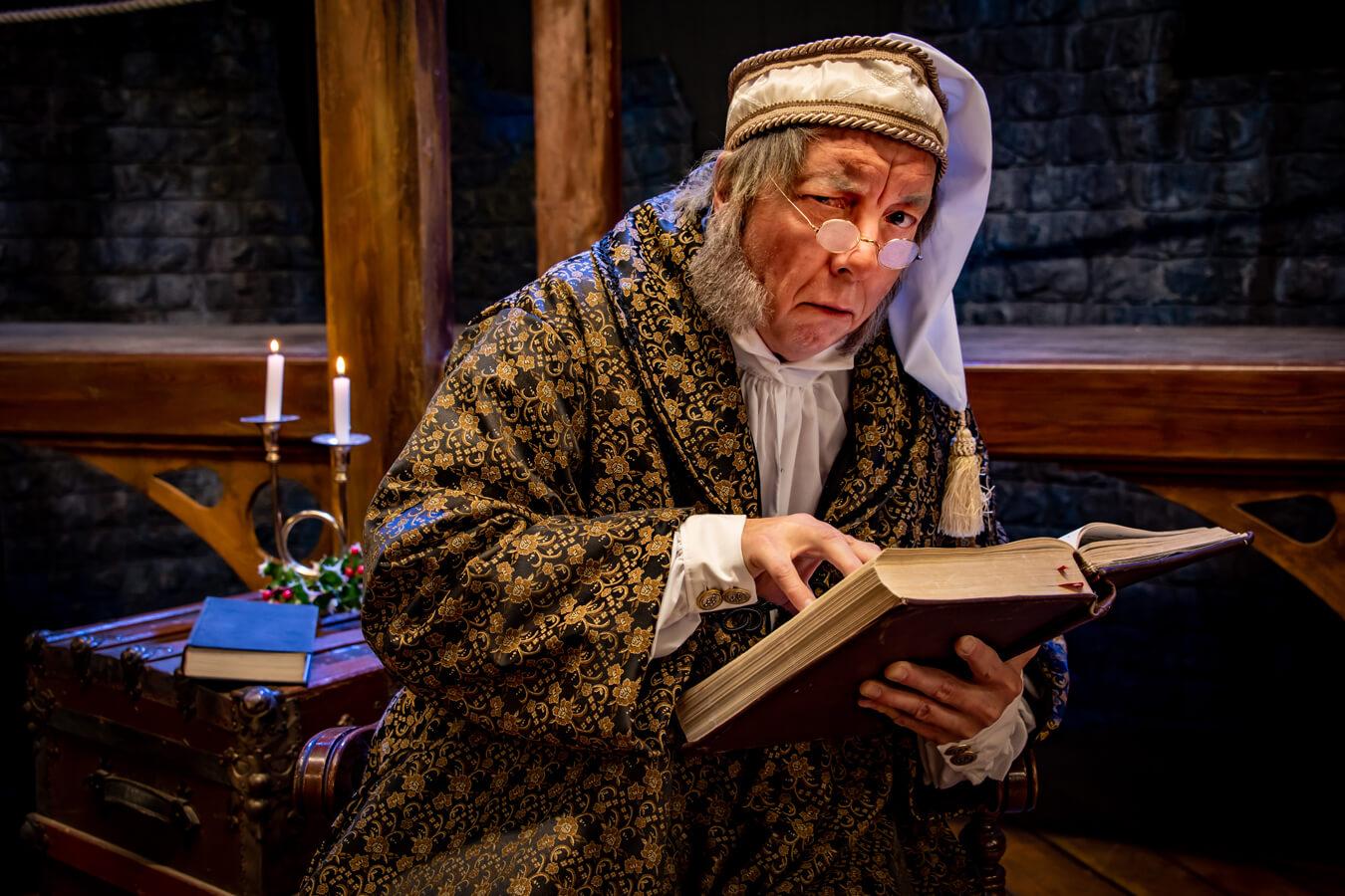 Ebenezer Scrooge in A Christmas Carol