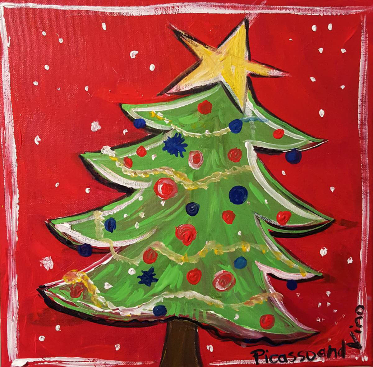 Holiday Tree by Picasso and Vino
