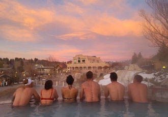 Soak in Pagosa Springs' all-natural, mineral waters.