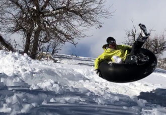 Sled and tube in Pagosa Springs