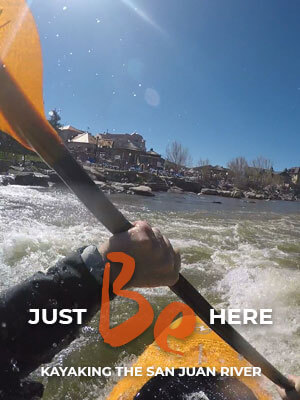 Kayaking the San Juan River through downtown Pagosa Springs