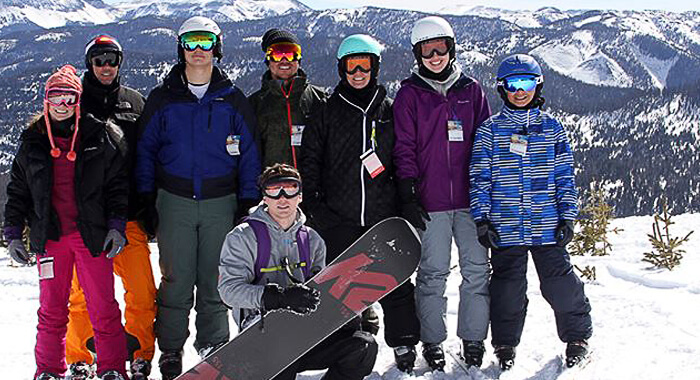 A group of friends at Wolf Creek Ski Area